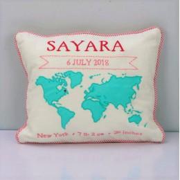 My World Birth Pillow (Pink)