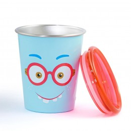 Spill Free Stainless Steel Cup - Shy Guy