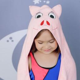 Rabitat Kids Hooded Towel - Pig