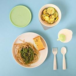 Miniware Little Foodie All-in-one Feeding Set Vanilla/Key Lime