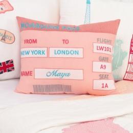 Boarding Pass Pillow