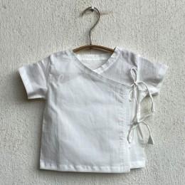 Zoo Bag - White Angarakha and Pyjama Pants Set
