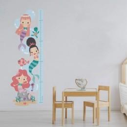 Mermaid - Height Chart Sticker