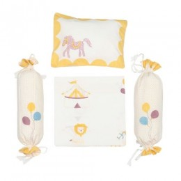 Cot Bedding Set - I Am Going To The Circus - Yellow