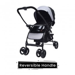 R for Rabbit Cuppy Cake Grand Stroller/Pram - Grey & Black