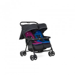 Joie meet Aire Twin Stroller W/ Rc Pink & Blue