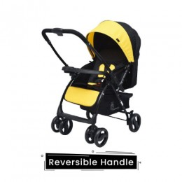 R for Rabbit Cuppy Cake Grand Baby Stroller-Smart & Elegant Stroller and Pram (Yellow)