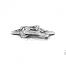 Silver Plated Baby Rattle - Star Ring
