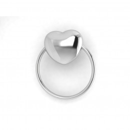 Sterling Silver Baby Rattle - Heart Ring