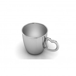 Sterling Silver Baby Cup with a Heart Handle