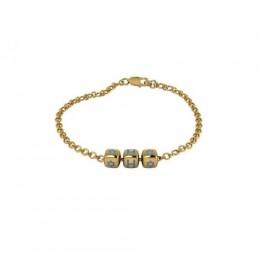 Sterling Silver Rakhi Bracelet 18 Kt Gold Plated