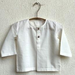Essential Bag - White Kurta and White Pyjama Pants Set