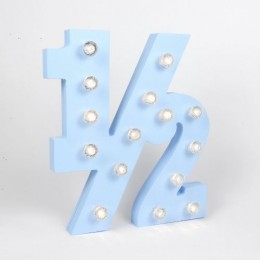 1/2 Number Marquee Lights - 10 inch