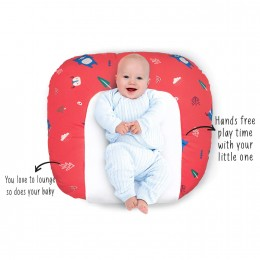 Snooze Baby Lounger (with Waterproof Protection) - Red
