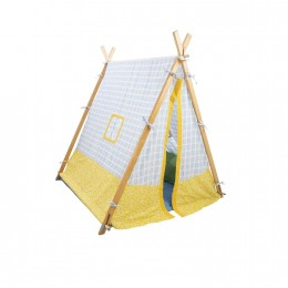 Play Tent - Yellow With Blue Stripes