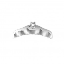 Silver Plated Star Baby Comb