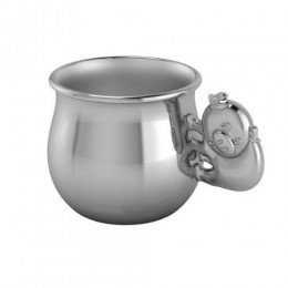 Silver Plated Piggy Baby Cup