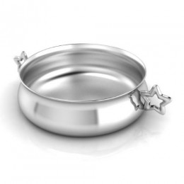 Silver Plated Bowl for Baby and Child - Star Handle Feeding Porringer