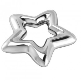 Silver Plated Star Baby Rattle