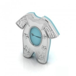 Silver Plated Pyjama Baby Photo Frame for Baby and Kids - Blue