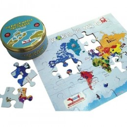World Map Puzzle - 2 in 1 Colouring Puzzle - 30 piece